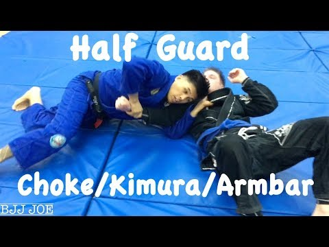 Half Guard Submissions: Choke, Kimura and Armbar with Professor Christopher