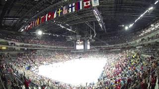 Hokejová show začíná! Pohled do kolínské arény těsně před bitvou Rusko - Kanada