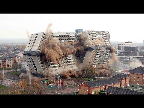 Снос зданий взрывом, идеальная работа