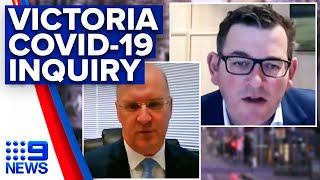 Coronavirus: Andrews questioned about hotel quarantine during COVID-19 inquiry | 9News Australia