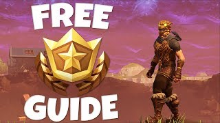 How To Find FREE BATTLE BADGES in Fortnite! Week 2 Hidden Battle Badge Location