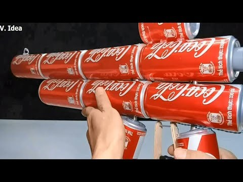 Coca Cola Gun How To Make Powerful Gun Mounting Removing Easy From Coca Cola Cans Youtube