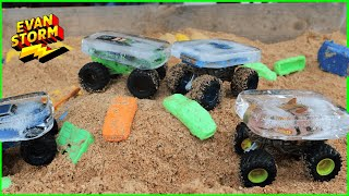 Monster Truck Monday: Backyard Playtime with Monster Jam Color Changers Trapped in ICE