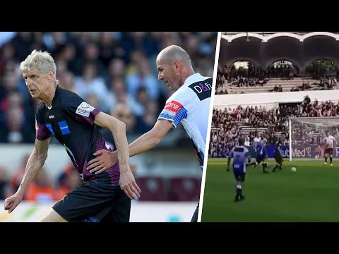Arsene Wenger vs Zinedine Zidane | Amazing Skills at 70 years old