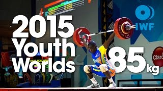 85kg Best Lifts 2015 Youth World Championships