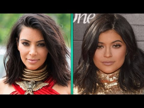 Kim Kardashian and Kylie Jenner Swap Faces and Look Like Twins