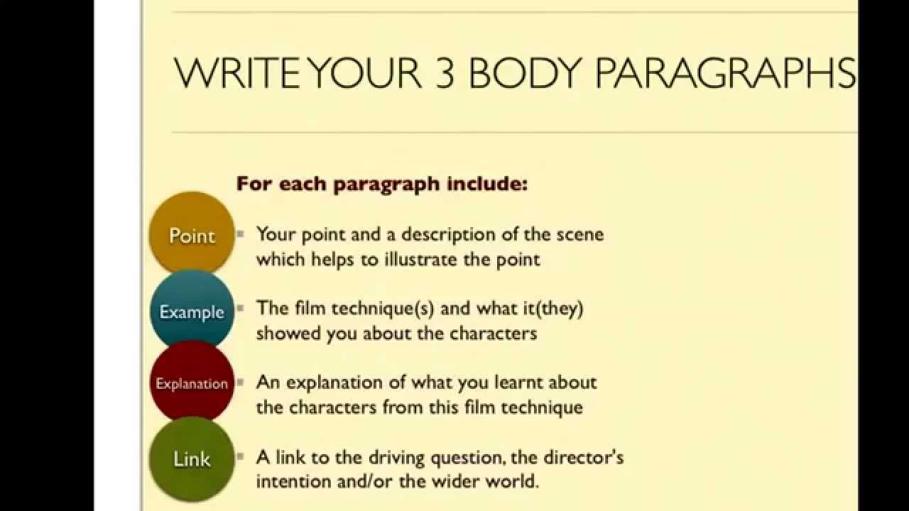 help writing a film essay