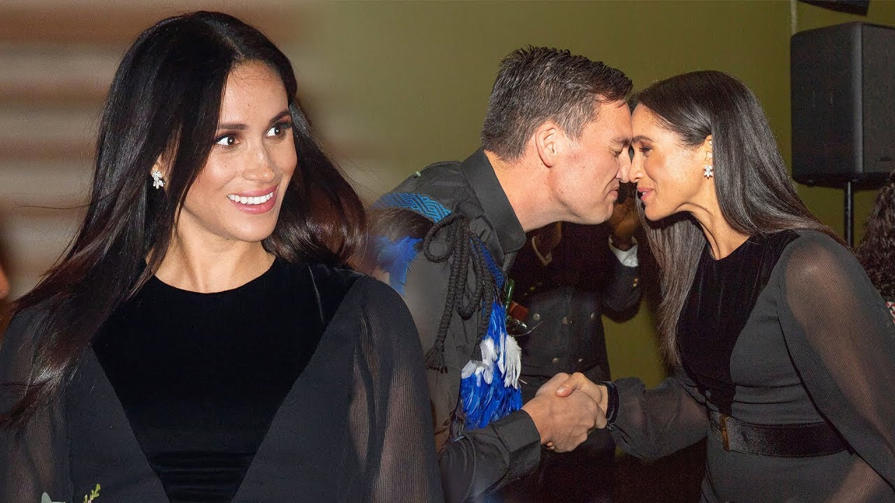 Duchess Meghan Rubs Noses With Guest In Traditional Maori Greeting