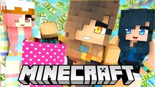 Wasting all of our money in Minecraft Shopping Simulator!
