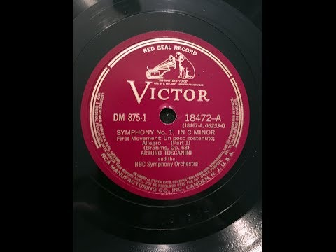 TOSCANINI: 1941 Brahms Symphony No 1 in Restored Sound