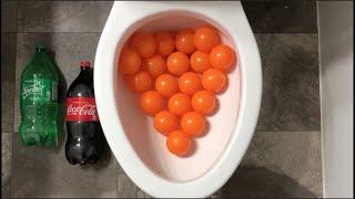 Will it Flush? - Orange Plastic Balls, Coca Cola, Sprite, Cereal, Marshmallows