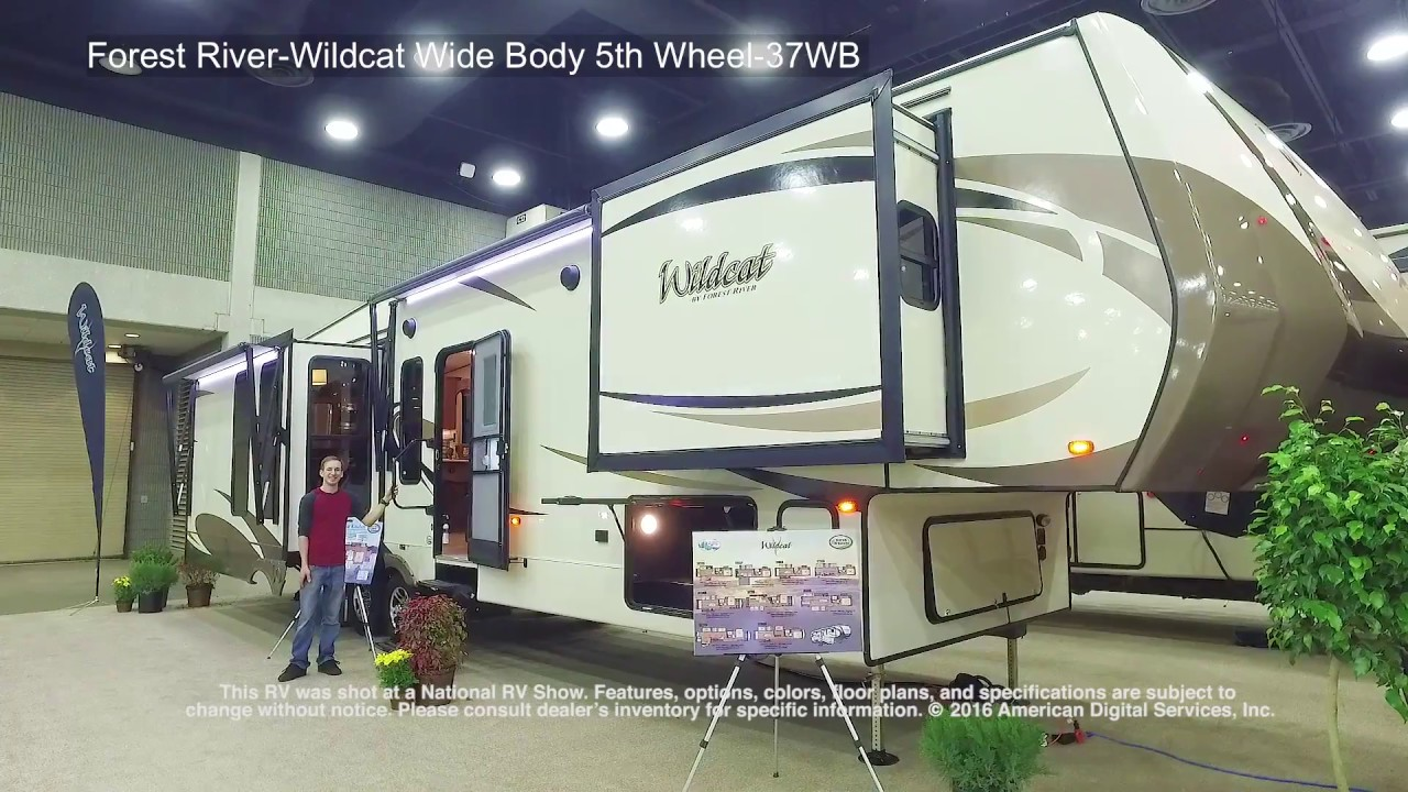 forest river wildcat wide body 5th wheel 37wb [ 1280 x 720 Pixel ]