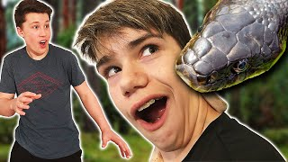 Surprising Bryton with a Snake!