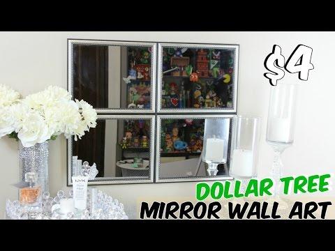 DOLLAR TREE MIRROR WALL ART DECOR TUTORIAL