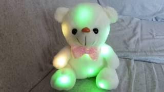 """Мишутка в подарок / Игрушка AliExpress """" Светящийся мишка """"/обзор"""