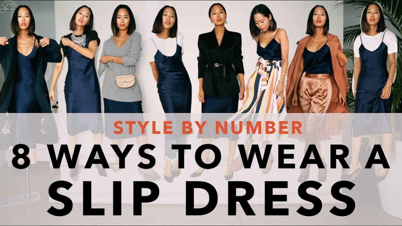 3b04063152c458 8 Ways To Wear A Slip Dress - Style By Number | Aimee Song - YouTube