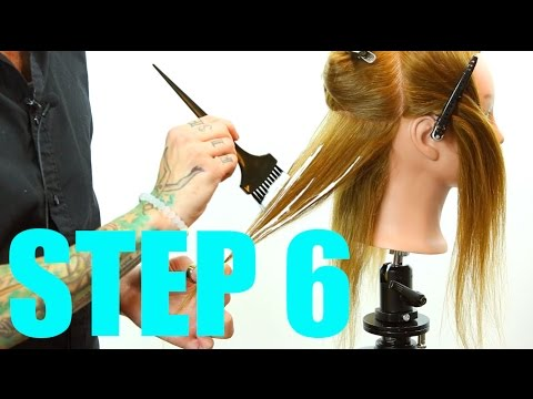 Step 6 - 14 Steps To Becoming A Better Hair Colorist - Hair Painting - Ombre