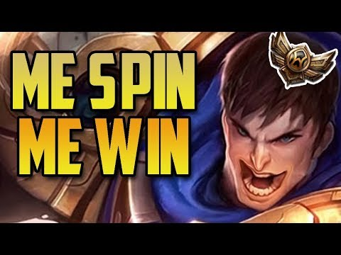 Garen Uses his SPIN to hit the NEXUS- Bronze Spectates 50