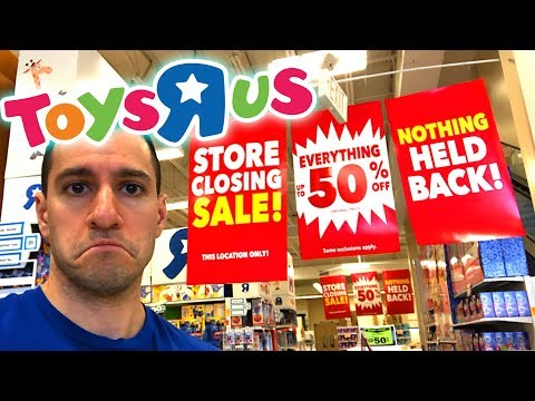 My LAST Time In Toys R Us!  CHEAP DEALS and POKEMON CARDS!