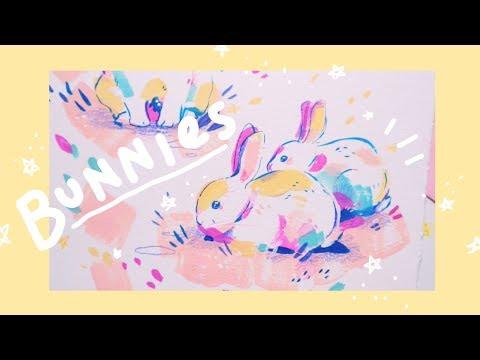 Painting Bunnies - Acrylic Paint