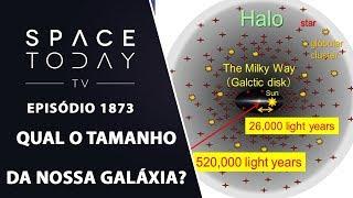 QUAL O TAMANHO DA NOSSA GALÁXIA? | SPACE TODAY TV EP1873