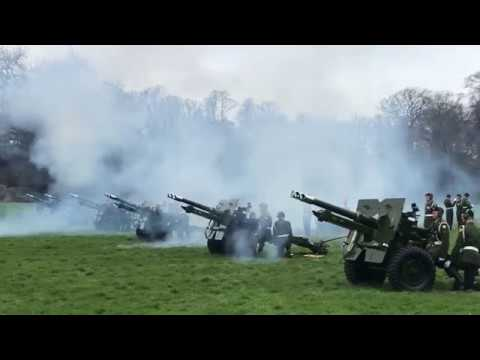 21 gun salute for the President of Italy at Áras an Uachtaráin