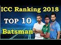 khulnawap.com - ICC rankings 2018 latest | Top 10 ODI Batsman with ICC Ranking list 2018 | MD1 Production