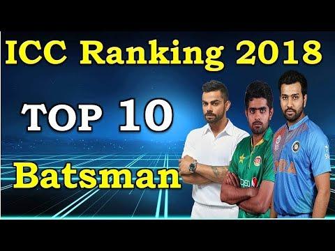 ICC rankings 2018 latest | Top 10 ODI Batsman with ICC Ranking list 2018 | MD1 Production