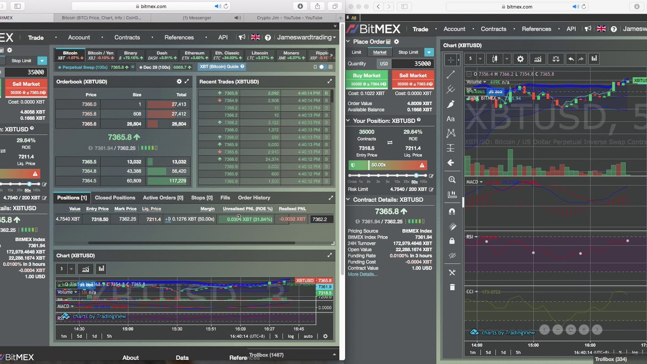 Bitmex Leverage trading 50% ROE in minutes
