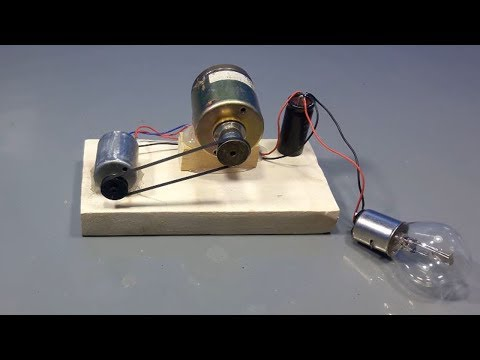 make 100% free energy electricity light bulbs generator _ science projects