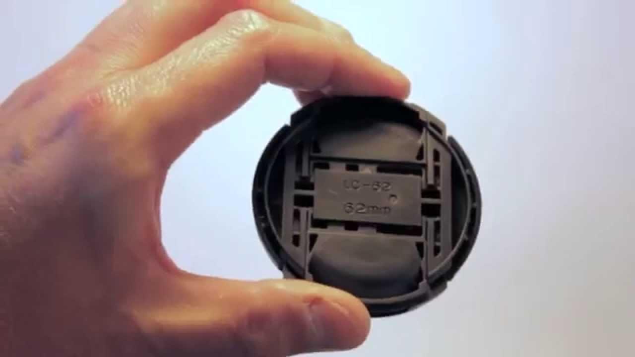 Lens Cap 62mm Snap On Front For DSLR SLR Camera Canon Nikon Pentax