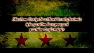 Mazlum Suriyeli mülteci kardeşlerimiz için yardim kanyasi yeniden başlamiştir