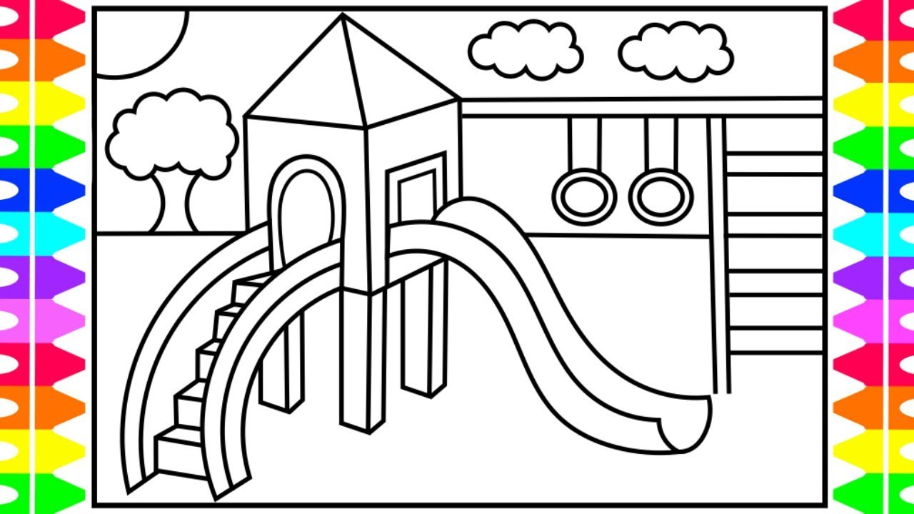playground coloring pages # 14