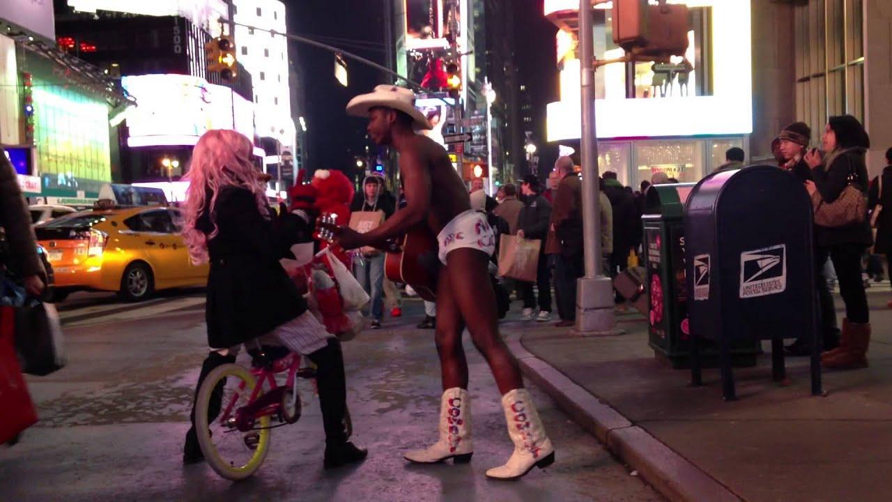 The Naked Black Cowboy New York City - YouTube