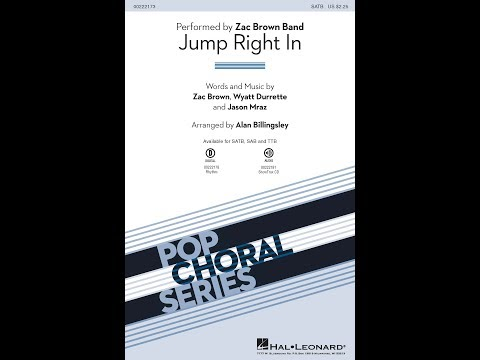 Jump Right In (SATB) - Arranged by Alan Billingsley