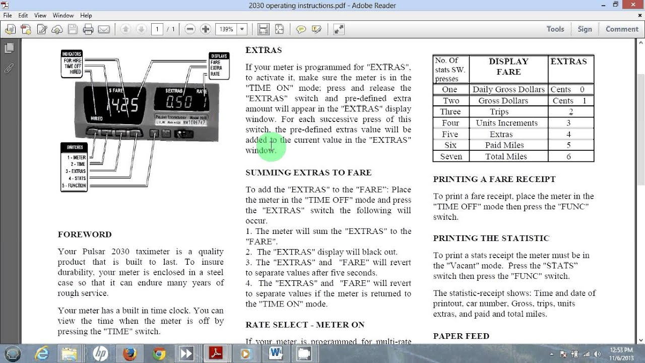 Pulsar 2030 taxi meter instructions for San Antonio Independent Drivers  YouTube
