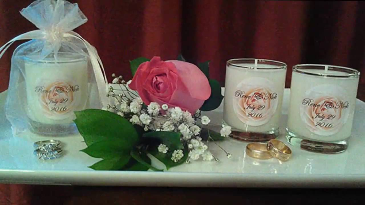 3 Oz Glass Votive Soy Candle Wedding Favors Personalized Wedding
