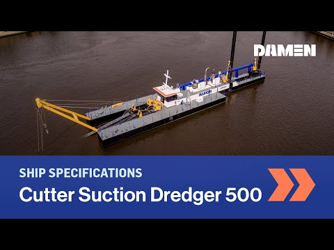Capital Dredging: A Cutter Suction Dredger CSD500 Creating A New Harbour