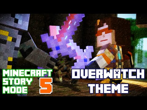 Play as Tracer! Minecraft Story Mode Episode 5 FULL Playthrough (Overwatch Theme)