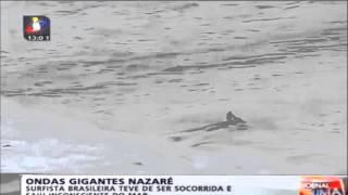 Acidente de Maya Gabeira em Nazaré (Accident Maya Gabeira in Nazareth)  28/10/2013
