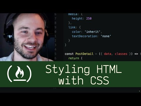 Styling HTML with CSS  (P5D14) - Live Coding with Jesse