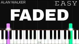 Alan Walker - Faded | EASY Pia…