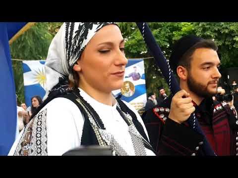 Πανοραμικά πλάνα από Συλλαλητήριο για τη Μακεδονία-Λάρισα 6/6/2018-Άφιξη ιππέων-Κρητικών-συνθήματα