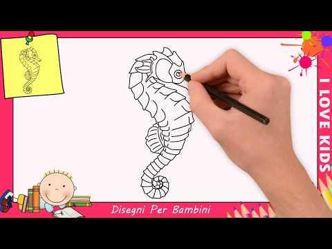 Come Disegnare Un Cavalluccio Marino Facile Passo Per Passo Per