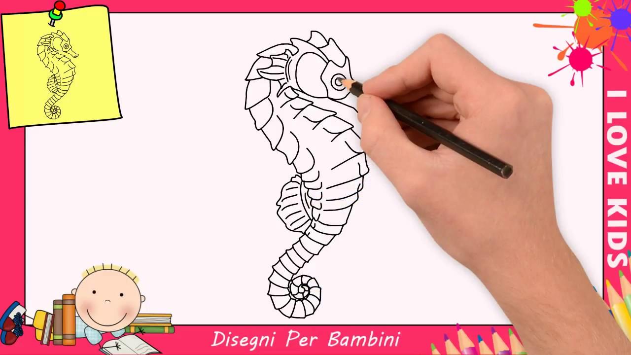 Cavalluccio Marino Disegno Bambini.Come Disegnare Un Cavalluccio Marino Facile Passo Per Passo Per