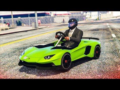 EPIC LAMBORGHINI GO KART MOD! - (GTA 5 Mods)