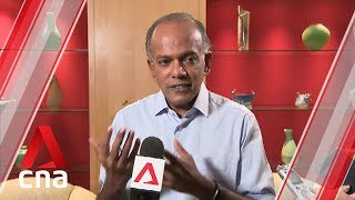 Gambar cover Online falsehoods: Shanmugam on who decides what is true or not true