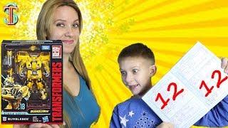 Трансформер Бамблби 🤖 за ОЦЕНКИ в школе из нового фильма BumbleBee