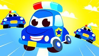 Car Patrol | Police Car Chase! A day for a Police Car | Vehicles and Race Cars! by Little Angel