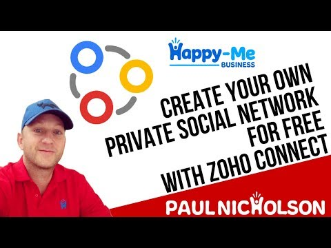 Create Your Own Website Like Facebook For Free With Zoho Connect - Your Social Network